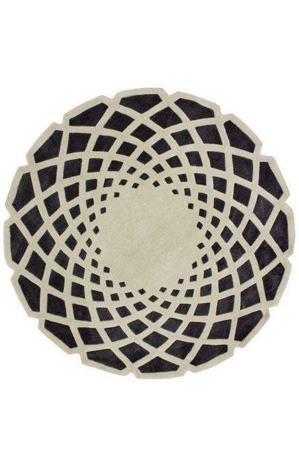 Ковер Marrakech round grey black 180