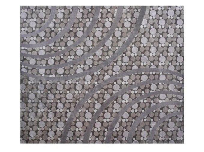 Ковер Molekula серого цвета 270х320