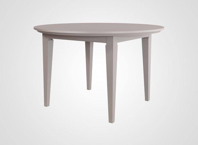 Стол обеденный круглый Manhattan молочно-серого цвета