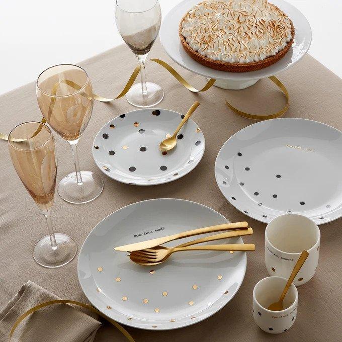 Набор из четырех тарелок Kubler белого цвета