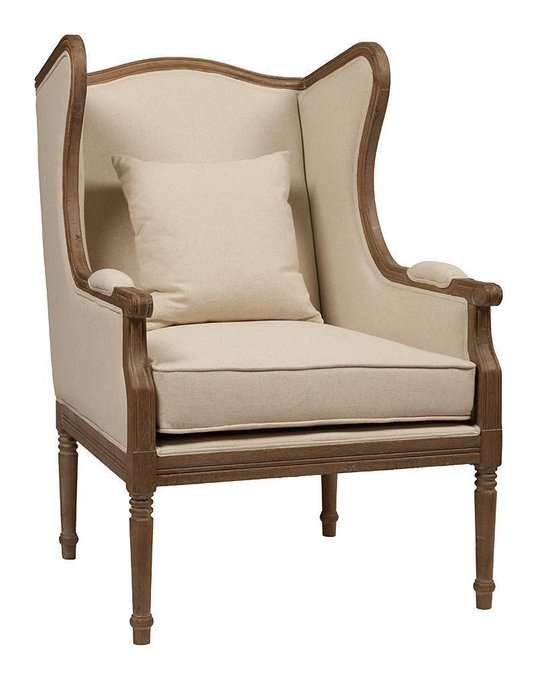 Кресло Cameron Armchair Белый Лен