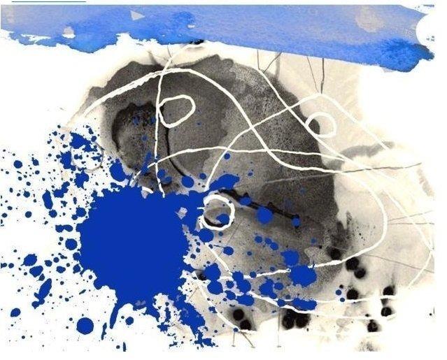 Ковер Masha синего цвета 100x100