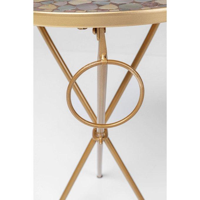 Столик приставной Pebbles золотого цвета