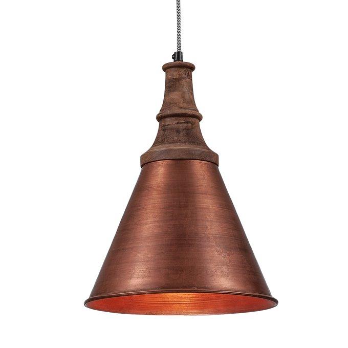 Светильник подвесной медного цвета