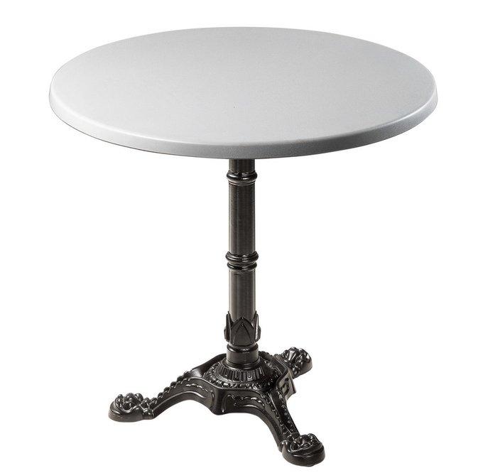 Обеденный стол Bistrot со столешницей серебряного цвета
