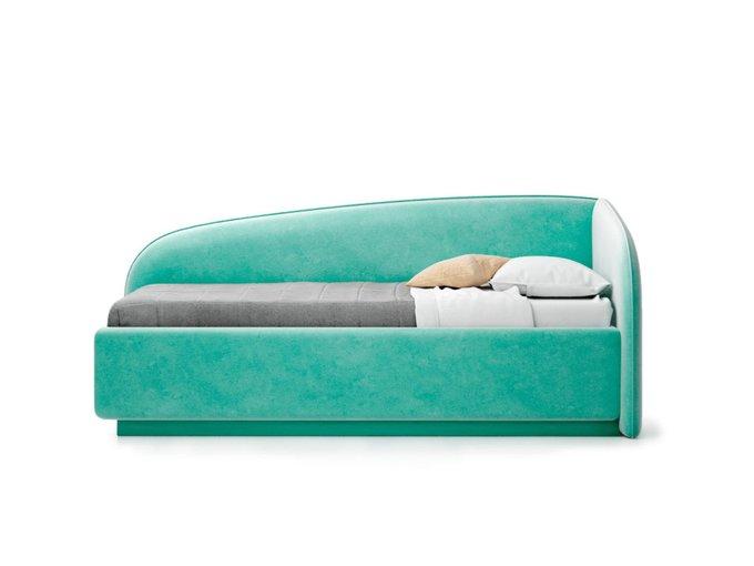 Кровать Amelia мятного цвета с решеткой 90х190