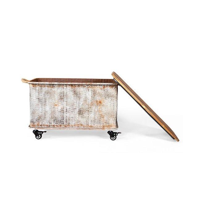 Сет из трех металлических ящиков Romany на колесиках