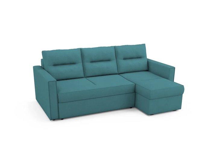 Угловой Диван-кровать Macao правый бирюзового цвета