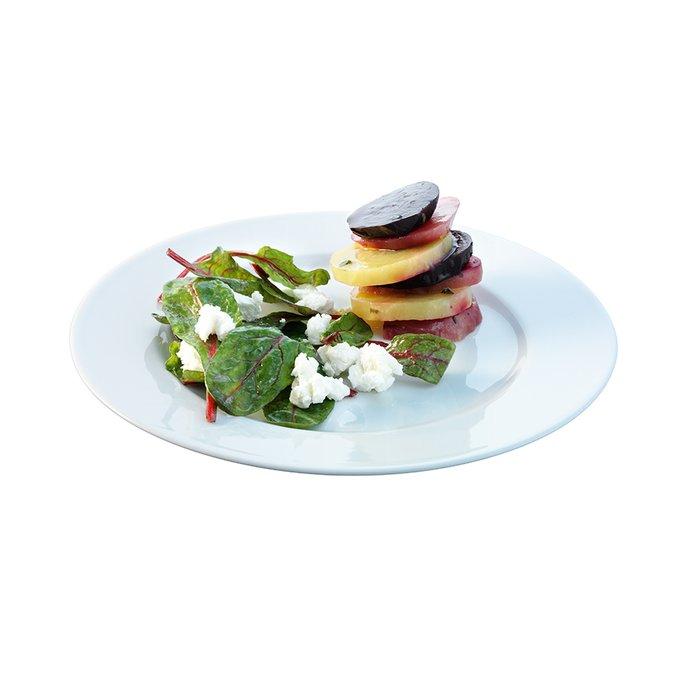 Набор из четырех обеденных тарелок с бортиком LSA dine