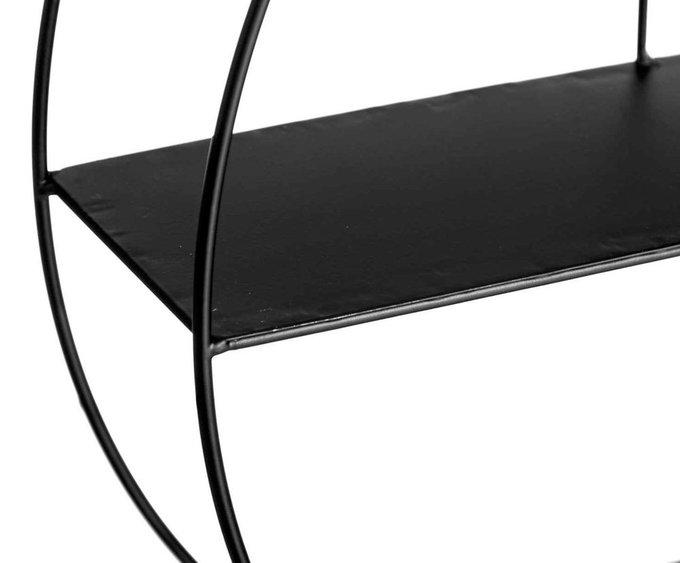 Стеллаж настенный черного цвета