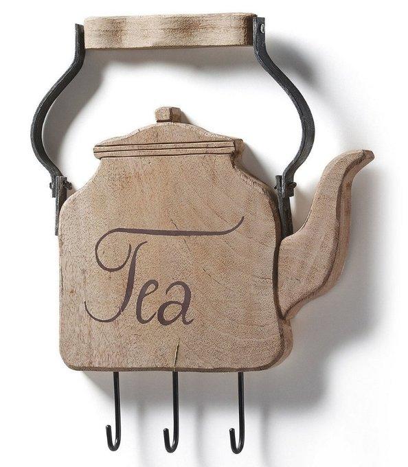Настенная вешалка Julia Grup TISSA деревянный чайник