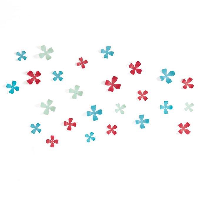 Декор для стен Umbra wallflower 25 элементов разноцветный