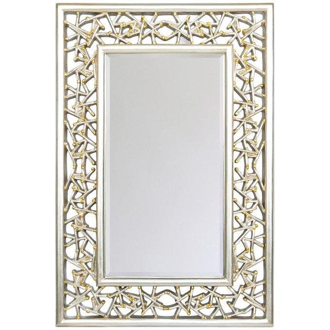 Настенное зеркало Кашмир в раме из полиуретана