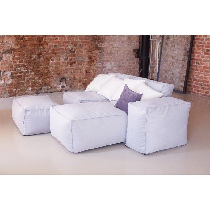 Бескаркасный модульный диван с лежаком