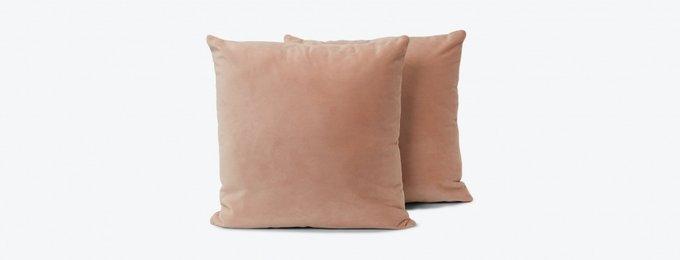 Набор из двух классических подушек серого цвета