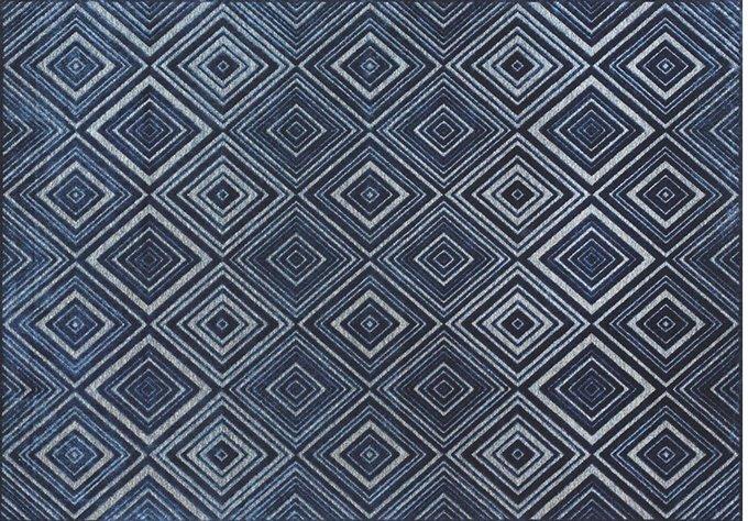 Ковер Cube 160х230 синего цвета