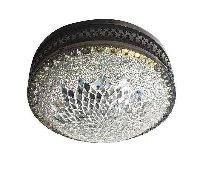 Настенно-потолочный светильник Марокко с плафоном из стекла