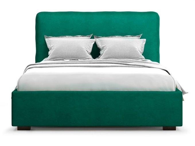 Кровать Brachano 180х200 зеленого цвета с подъемным механизмом