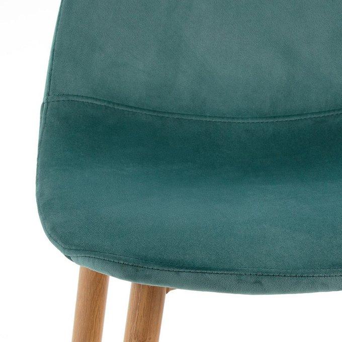 Комплект из двух полубарных стульев Iena серо-бирюзового цвета