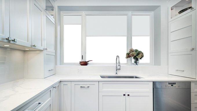 Рулонная штора Миниролл Эко белого цвета 50x160