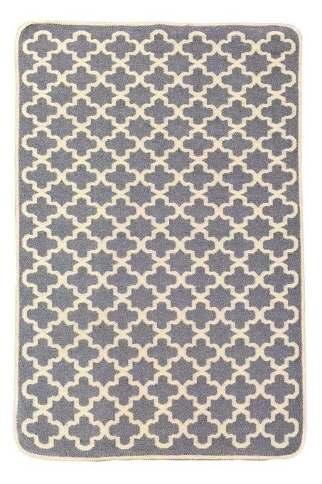 Двусторонний ковер бежево-серого цвета 60х90