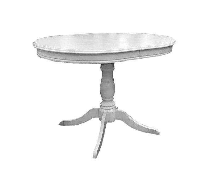 Стол обеденный Adda раскладной белого цвета