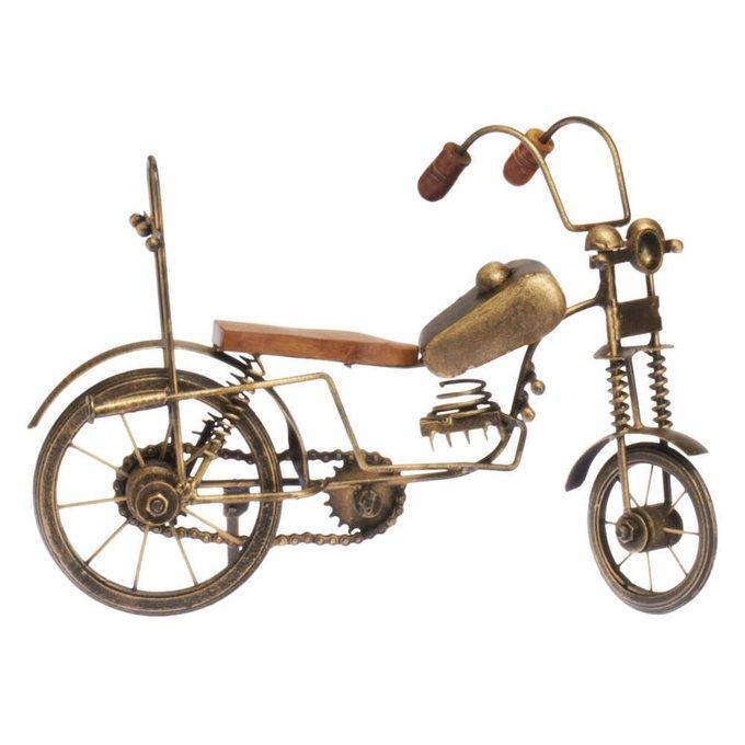 Декоративная фигурка Велосипед коричневого цвета