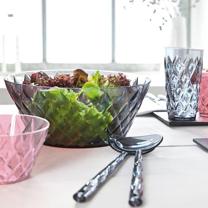 Приборы для салата Crystal salad organic серого цвета