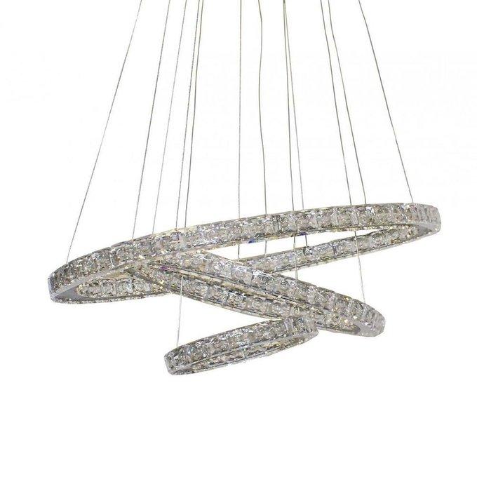 Подвесной светодиодный светильник Тор-Кристалл с плафонами из хрусталя
