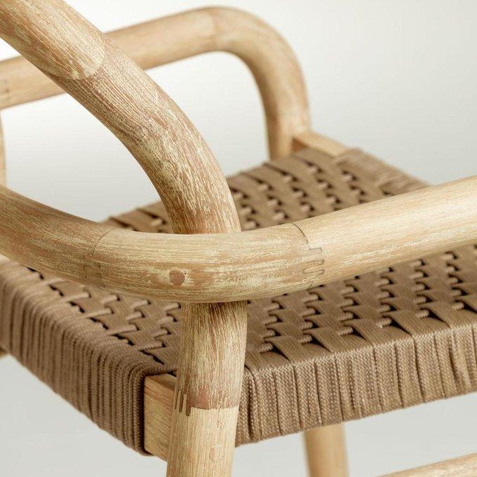 Барный стул Sheryl Beige M из дерева бежевого цвета