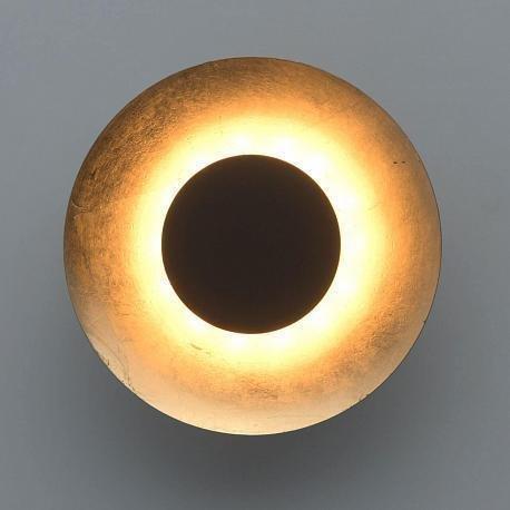 Настенный светодиодный светильник Галатея 12 из металла черного цвета