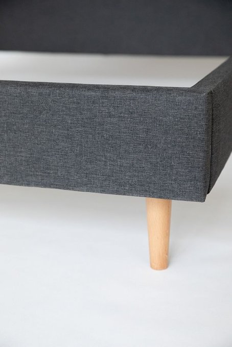 Кровать Grey серого цвета без изголовья 160х200