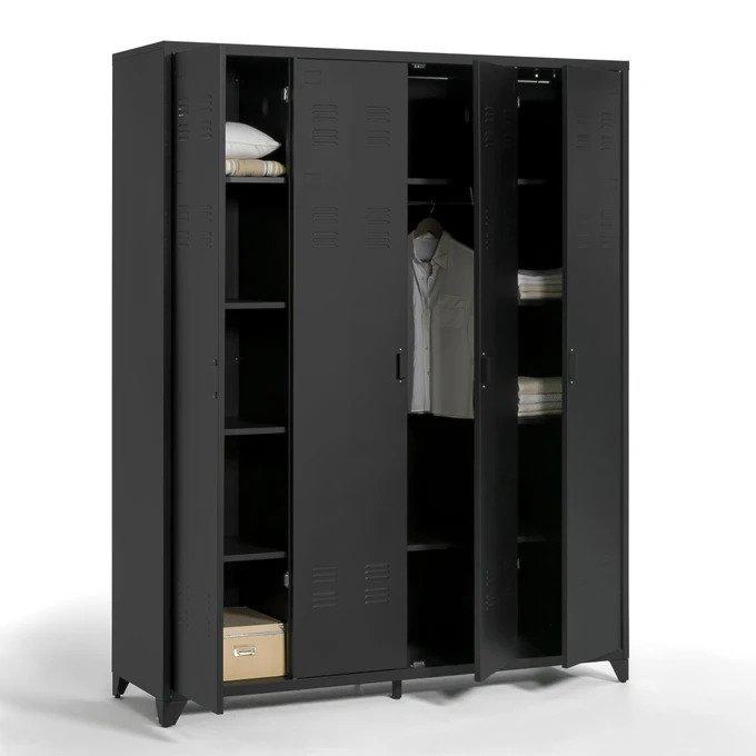 Шкаф Hiba из металла с четырьмя дверцами