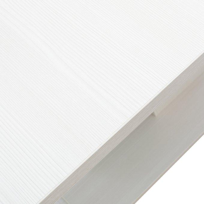 Стол раздвижной Луссо Наварра Белая/Алюминий
