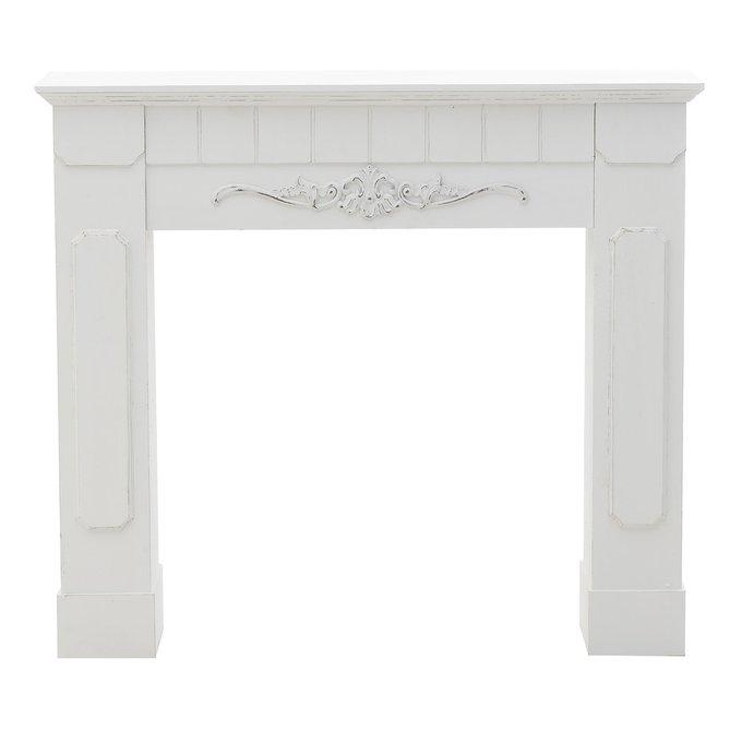 Портал для камина белого цвета