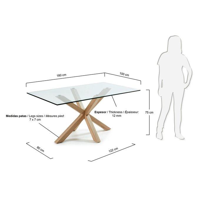 Обеденный стол Arya со стеклянной столешницей
