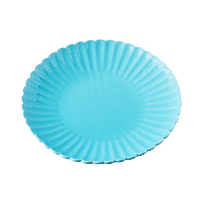 Тарелка Coral Голубая из керамики