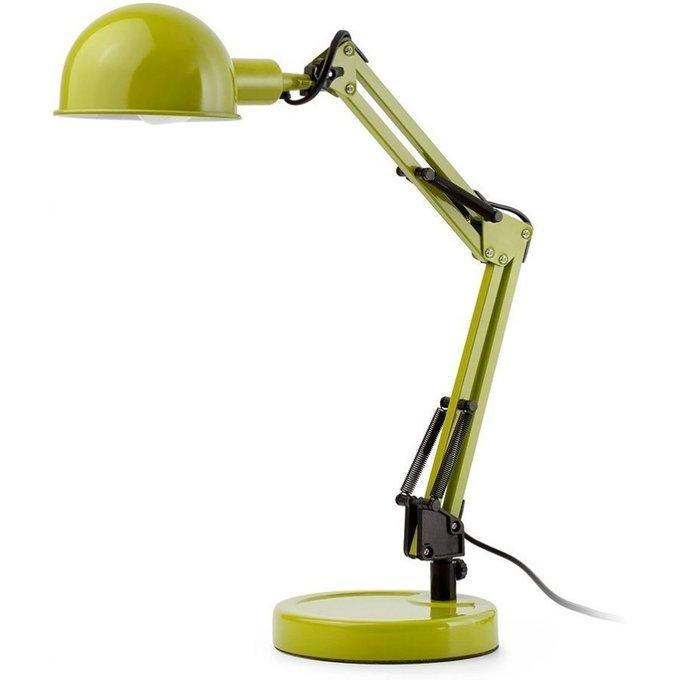 Настольная лампа Faro Baobab (зеленая) из металла