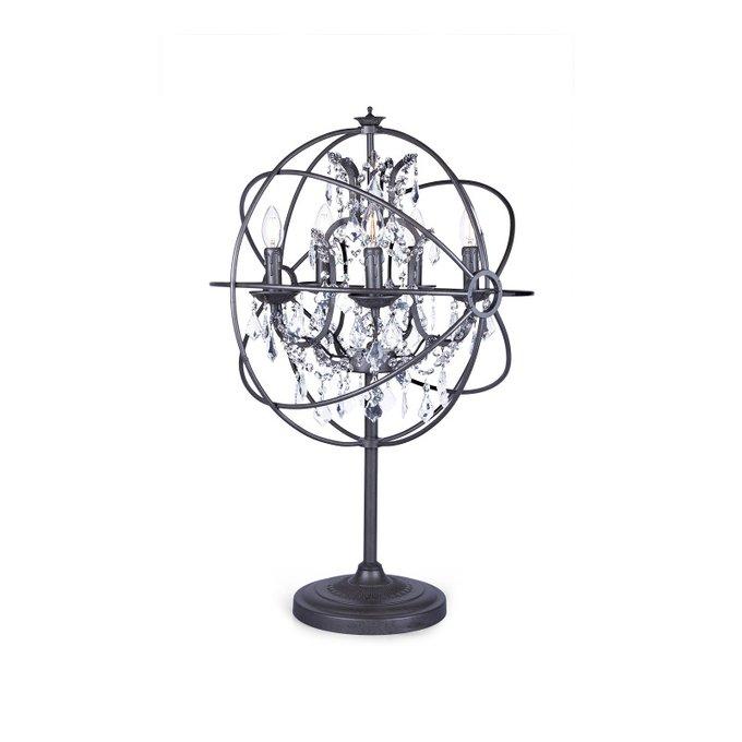 Лампа настольная Rococo Orb с хрустальными подвесками