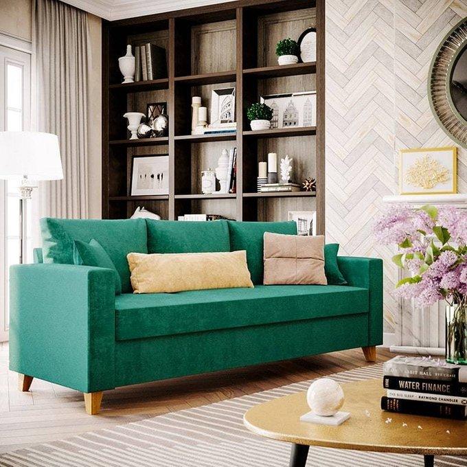 Диван-кровать Эмилио темно-синего цвета
