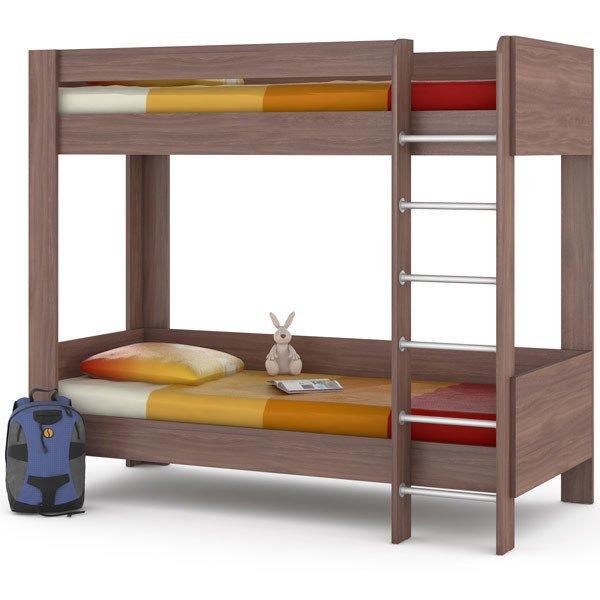 Двухъярусная кроват Ника 80х200 цвета ясень шимо тёмный
