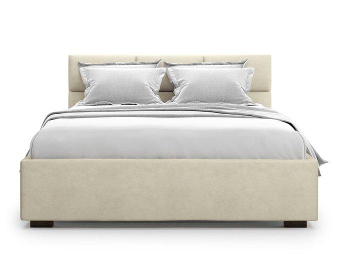 Кровать Bolsena 160х200 бежевого цвета с подъемным механизмом