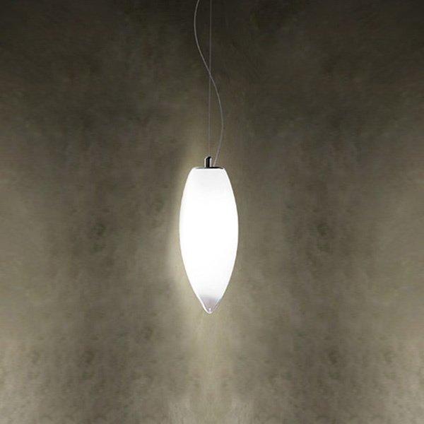 Подвесной светильник Vistosi BACO с плафоном из стекла белого цвета