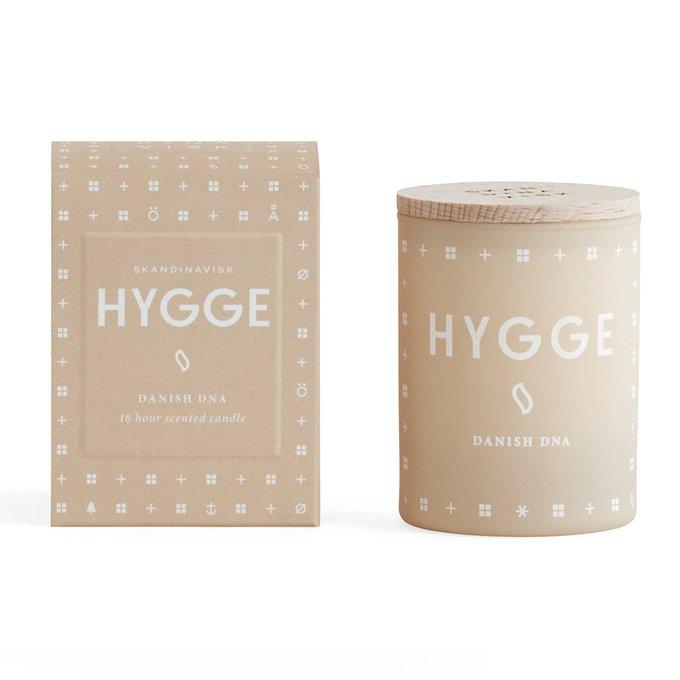 Свеча ароматическая Hygge бежевого цвета с крышкой