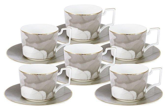 """Чайный набор Naomi """"Лунная соната"""" 6 чашек + 6 блюдец"""
