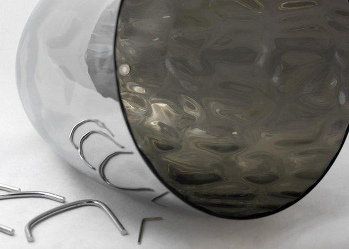 Подвесной светильник Loft с серым плафоном