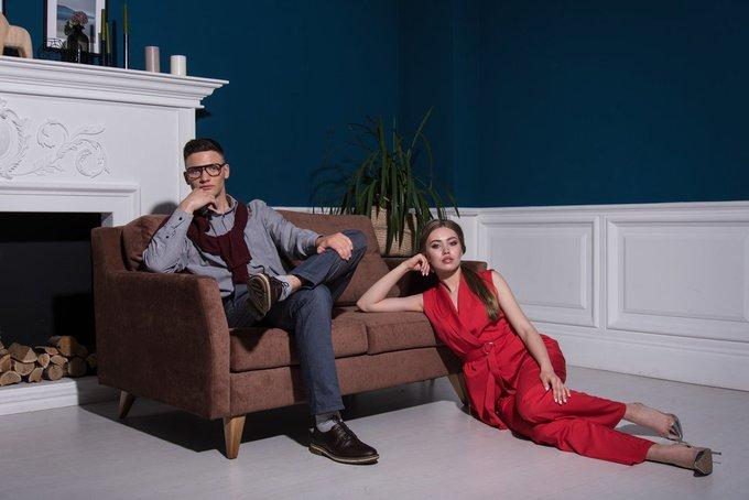 Прямой диван Rafael M бежевого цвета