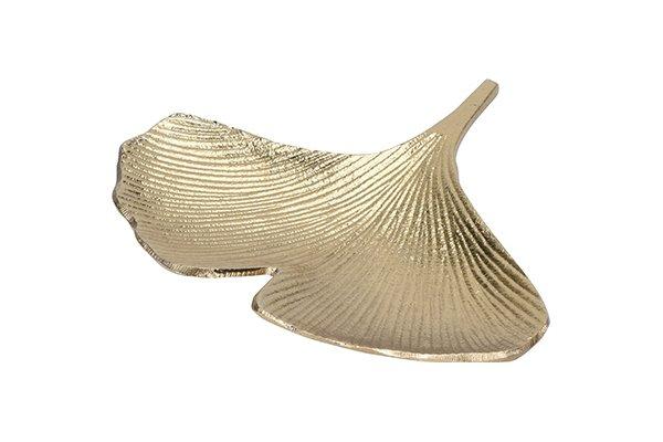 Тарелка декоративная Гинкго золотого цвета