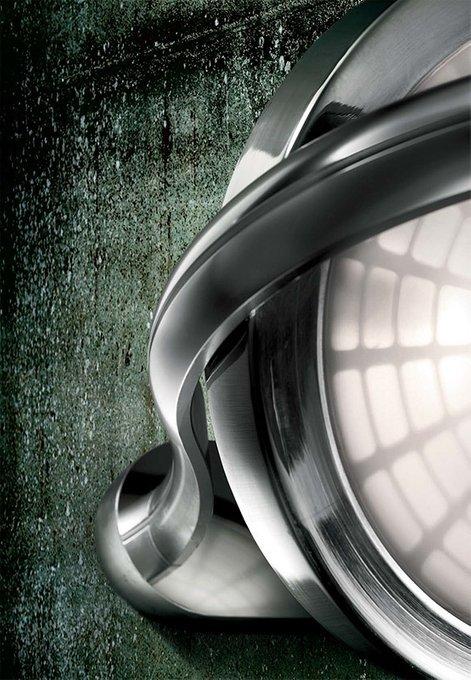 """Настенный/Потолочный светильник Leucos """"SPID""""  из блестящего алюминия"""