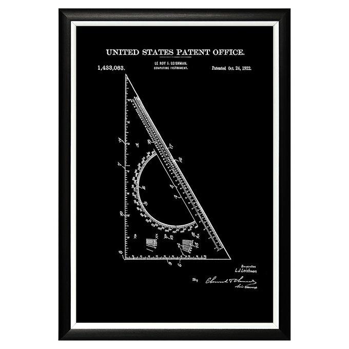 Арт-постер Патент на линейку-транспортир 1922